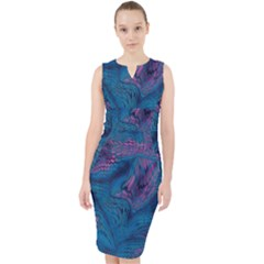 Midnight Dragon Midi Bodycon Dress