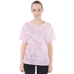 Marble Background Texture Pink V Neck Dolman Drape Top