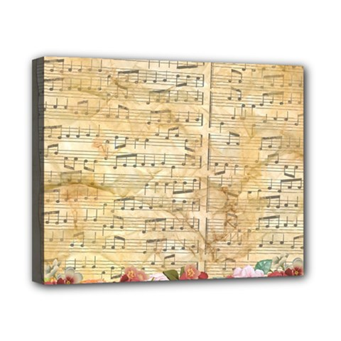 Background Old Parchment Musical Canvas 10  X 8  by Celenk