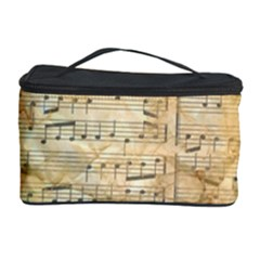 Background Old Parchment Musical Cosmetic Storage Case by Celenk