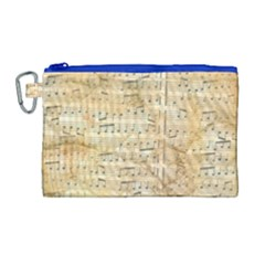 Background Old Parchment Musical Canvas Cosmetic Bag (large)