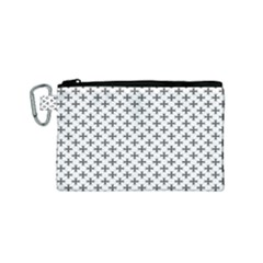 Black Cross Canvas Cosmetic Bag (small) by jumpercat