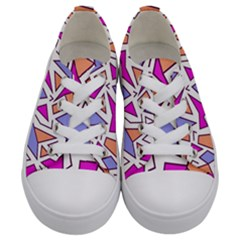 Retro Shapes 03 Kids  Low Top Canvas Sneakers
