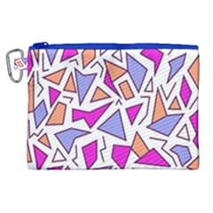 Retro Shapes 03 Canvas Cosmetic Bag (xl) by jumpercat