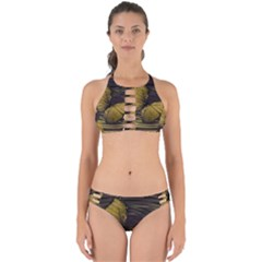 Butterfly Insect Wave Concentric Perfectly Cut Out Bikini Set