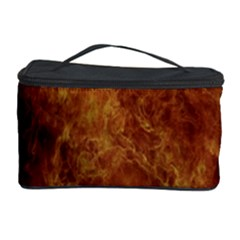 Abstract Flames Fire Hot Cosmetic Storage Case by Celenk