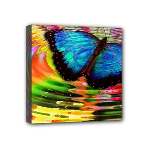 Blue Morphofalter Butterfly Insect Mini Canvas 4  X 4  by Celenk