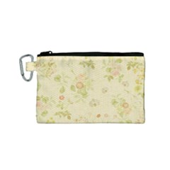 Floral Wallpaper Flowers Vintage Canvas Cosmetic Bag (small)