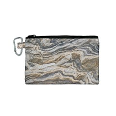 Texture Marble Abstract Pattern Canvas Cosmetic Bag (small)