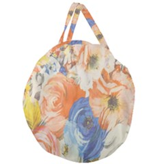 Texture Fabric Textile Detail Giant Round Zipper Tote by Celenk