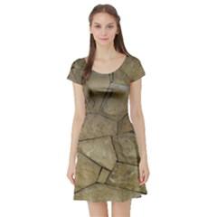 Brick Wall Stone Kennedy Short Sleeve Skater Dress