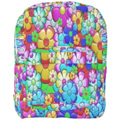 Flowers Ornament Decoration Full Print Backpack by Celenk
