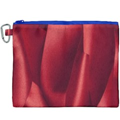 Red Fabric Textile Macro Detail Canvas Cosmetic Bag (xxxl) by Celenk
