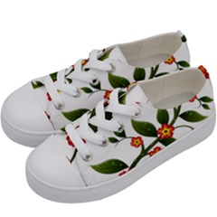 Flower Branch Nature Leaves Plant Kids  Low Top Canvas Sneakers by Celenk