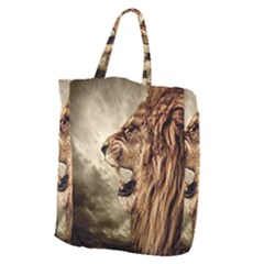 Roaring Lion Giant Grocery Zipper Tote by Celenk