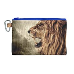 Roaring Lion Canvas Cosmetic Bag (large) by Celenk