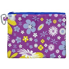 Floral Flowers Canvas Cosmetic Bag (xxl) by Celenk