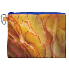Flowers Leaves Leaf Floral Summer Canvas Cosmetic Bag (xxl) by Celenk