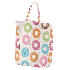 Colored Doughnuts Pattern Giant Grocery Zipper Tote by allthingseveryday