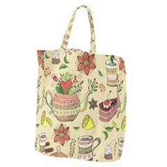 Colored Afternoon Tea Pattern Giant Grocery Zipper Tote by allthingseveryday