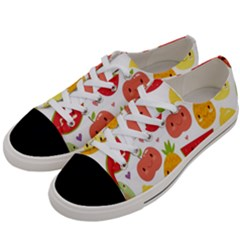 Happy Fruits Pattern Women s Low Top Canvas Sneakers by allthingseveryday