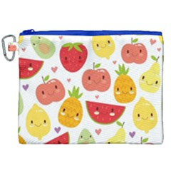 Happy Fruits Pattern Canvas Cosmetic Bag (xxl) by allthingseveryday
