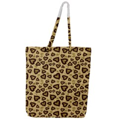 Leopard Heart 01 Full Print Rope Handle Tote (large) by jumpercat