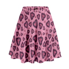 Leopard Heart 03 High Waist Skirt by jumpercat