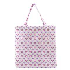 Pixel Hearts Grocery Tote Bag by jumpercat