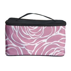 Pink Peonies Cosmetic Storage Case by 8fugoso
