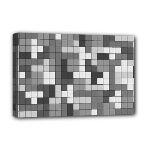 Tetris Camouflage Urban Deluxe Canvas 18  X 12   by jumpercat