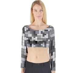Tetris Camouflage Urban Long Sleeve Crop Top