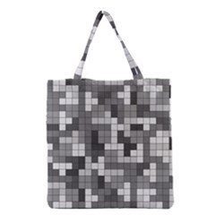 Tetris Camouflage Urban Grocery Tote Bag by jumpercat