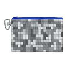 Tetris Camouflage Urban Canvas Cosmetic Bag (large) by jumpercat