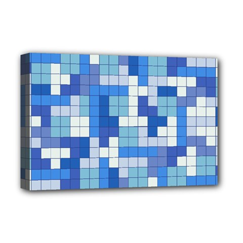Tetris Camouflage Marine Deluxe Canvas 18  X 12   by jumpercat