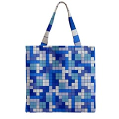 Tetris Camouflage Marine Grocery Tote Bag by jumpercat