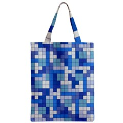 Tetris Camouflage Marine Zipper Classic Tote Bag by jumpercat