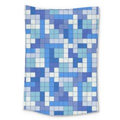 Tetris Camouflage Marine Large Tapestry by jumpercat