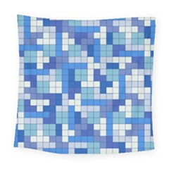 Tetris Camouflage Marine Square Tapestry (large) by jumpercat