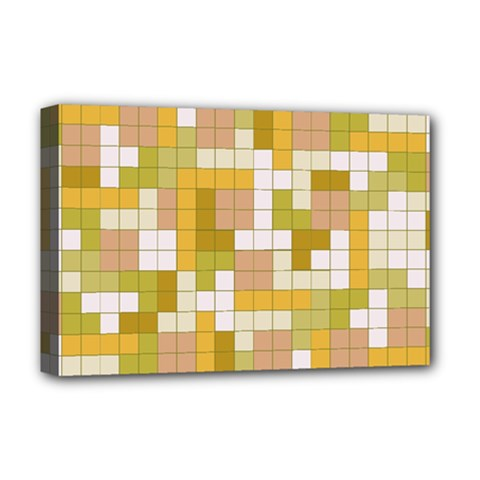 Tetris Camouflage Desert Deluxe Canvas 18  X 12   by jumpercat
