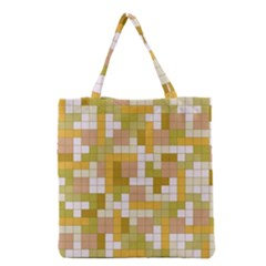 Tetris Camouflage Desert Grocery Tote Bag by jumpercat