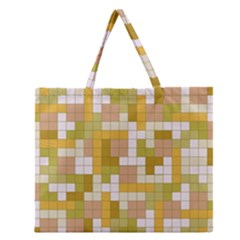 Tetris Camouflage Desert Zipper Large Tote Bag by jumpercat