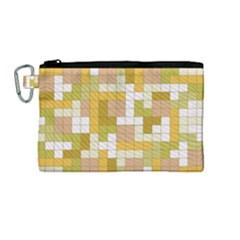 Tetris Camouflage Desert Canvas Cosmetic Bag (medium) by jumpercat