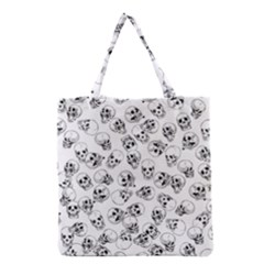 A Lot Of Skulls White Grocery Tote Bag by jumpercat