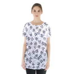 A Lot Of Skulls White Skirt Hem Sports Top by jumpercat