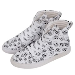 A Lot Of Skulls White Men s Hi Top Skate Sneakers by jumpercat