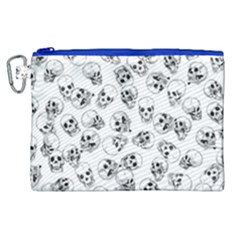 A Lot Of Skulls White Canvas Cosmetic Bag (xl) by jumpercat