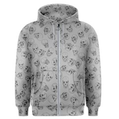 A Lot Of Skulls Grey Men s Zipper Hoodie by jumpercat