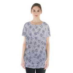 A Lot Of Skulls Grey Skirt Hem Sports Top by jumpercat