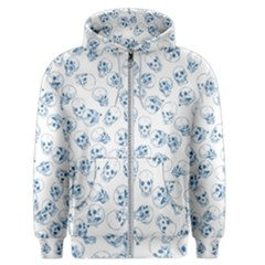 A Lot Of Skulls Blue Men s Zipper Hoodie by jumpercat